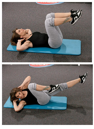 Bicycle maneuver, the best abdominal exercise
