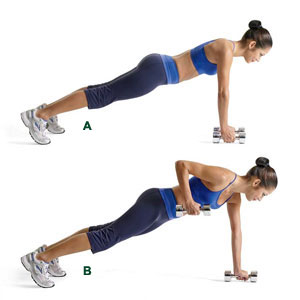 The Plank Position Dumbbell Row Also Known As Renegade Is A Challenging Exercise That Builds Rock Hard Strength In Abdominals Core