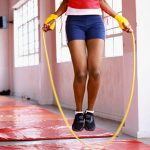jumping rope between weight training sets is a great way to increase caloric burn with interval training