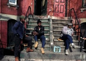 black men on stoop