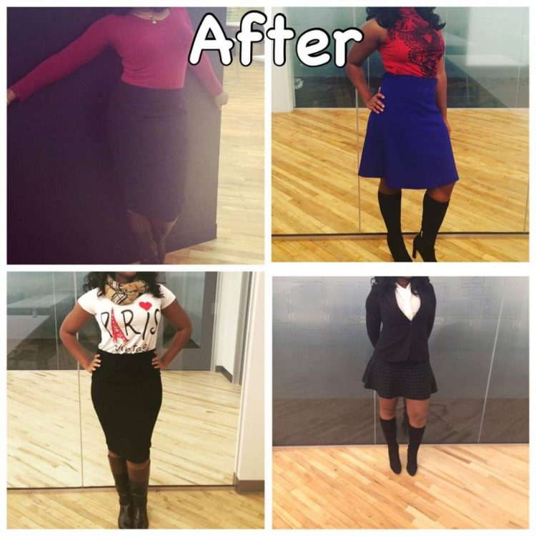 After changing my attire based on guidance from my mentor Deborrah Cooper and learning the art of dressing well for women