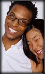 black man with asian woman