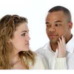 black man in interracial relationship with white woman